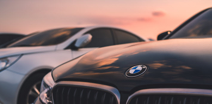 BMW Car on Sunset