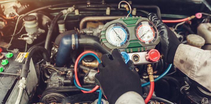 BMW AC System Refrigerant Filling